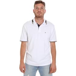 Ruhák Férfi Rövid ujjú galléros pólók Les Copains 9U9021 Fehér
