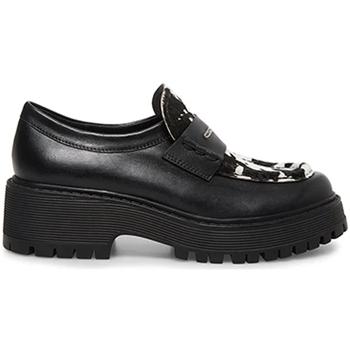 Cipők Női Mokkaszínek Steve Madden SMSMALVERNC-BLKWHT Fekete