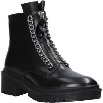 Cipők Női Csizmák Apepazza F0COMBAT10/LEA Fekete
