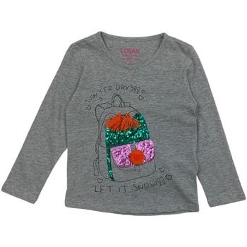 Ruhák Lány Hosszú ujjú pólók Losan 026-1201AL Szürke