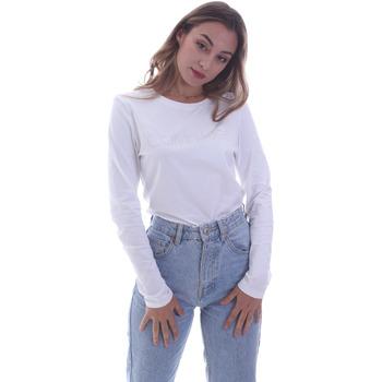Ruhák Női Hosszú ujjú pólók Calvin Klein Jeans K20K202386 Fehér