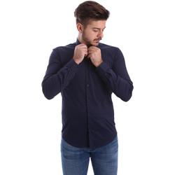 Ruhák Férfi Hosszú ujjú ingek Automatic CAU22400 Kék