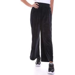Ruhák Női Lenge nadrágok Key Up 5CS54 0001 Fekete