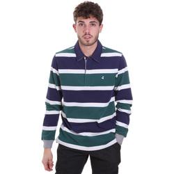 Ruhák Férfi Hosszú ujjú galléros pólók Navigare NV30026 Kék