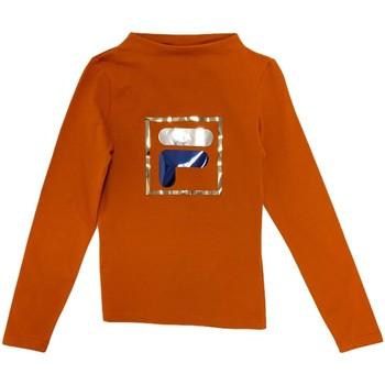Ruhák Gyerek Hosszú ujjú pólók Fila 688102 Narancssárga