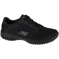 Cipők Női Rövid szárú edzőcipők Skechers GO Walk Smartinfluence Fekete