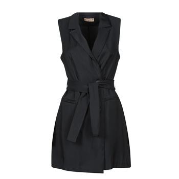 Ruhák Női Rövid ruhák Moony Mood OLALA Fekete
