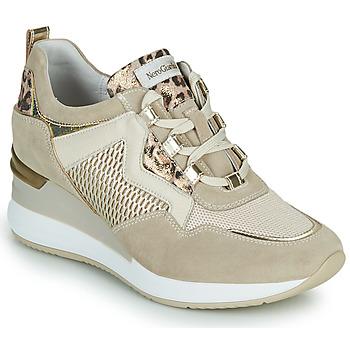 Cipők Női Rövid szárú edzőcipők NeroGiardini DARKO Bézs