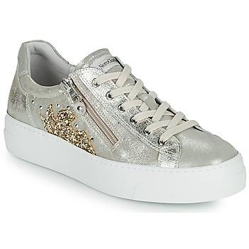 Cipők Női Rövid szárú edzőcipők NeroGiardini EDDY Arany