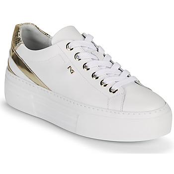 Cipők Női Rövid szárú edzőcipők NeroGiardini LAITO Fehér / Arany