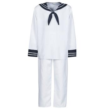Ruhák Férfi Jelmezek Fun Costumes COSTUME ADULTE MARIN BLANC Fehér