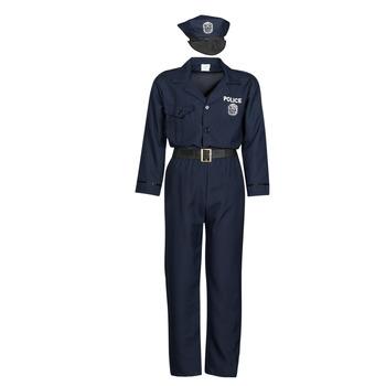 Ruhák Férfi Jelmezek Fun Costumes COSTUME ADULTE OFFICIER DE POLICE Sokszínű