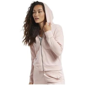 Ruhák Női Pulóverek Reebok Sport TE Textured Logo Fullzip Rózsaszín