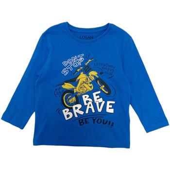 Ruhák Fiú Hosszú ujjú pólók Losan 025-1201AL Kék