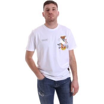 Ruhák Férfi Rövid ujjú pólók Disclaimer 21EDS50512 Fehér