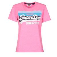 Ruhák Női Rövid ujjú pólók Superdry VL CALI TEE 181 Rózsaszín