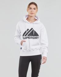 Ruhák Női Pulóverek Superdry MOUNTAIN SPORT MONO HOOD Fehér
