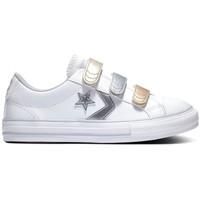 Cipők Gyerek Rövid szárú edzőcipők Converse Star player 3v ox Fehér