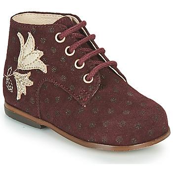Cipők Lány Magas szárú edzőcipők Little Mary MEIGE Bordó