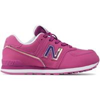 Cipők Gyerek Rövid szárú edzőcipők New Balance NBGC574MTP Rózsaszín