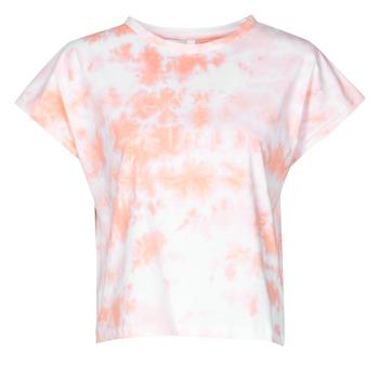 Ruhák Női Rövid ujjú pólók Yurban ONILA Fehér / Rózsaszín
