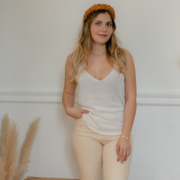 Ruhák Női Trikók / Ujjatlan pólók Céleste INSEPARABLE Ekrü