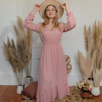 Ruhák Női Hosszú ruhák Céleste COLOMBE Rózsaszín