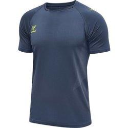 Ruhák Férfi Rövid ujjú pólók Hummel Maillot d'entrainement bleu/jaune