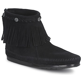 Cipők Női Csizmák Minnetonka HI TOP BACK ZIP BOOT Fekete