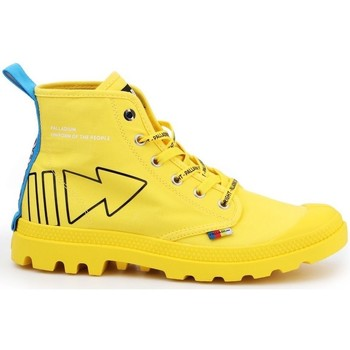 Cipők Női Magas szárú edzőcipők Palladium Manufacture Pampa Dare Rew Fwd Citromsárga