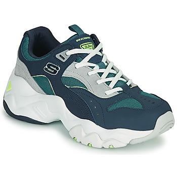 Cipők Női Rövid szárú edzőcipők Skechers D'LITES 3.0/OCEAN CLOUD Tengerész