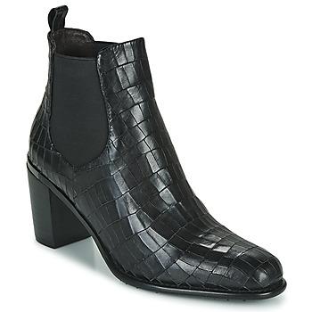 Cipők Női Bokacsizmák Adige FANNY V5 CROCO NOIR Fekete