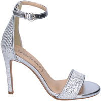 Cipők Női Szandálok / Saruk Olga Rubini Sandali Glitter Pelle sintetica Argento