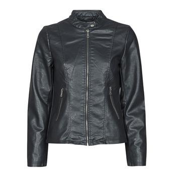 Ruhák Női Bőrkabátok / műbőr kabátok Only ONLMELISA Fekete