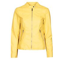 Ruhák Női Bőrkabátok / műbőr kabátok Only ONLMELISA Citromsárga