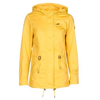 Ruhák Női Parka kabátok Only ONLLORCA Citromsárga