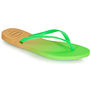 Cipők Női Lábujjközös papucsok Havaianas SLIM GRADIENT Fehér / Zöld