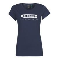 Ruhák Női Rövid ujjú pólók G-Star Raw GRAPHIC 20 SLIM Kék