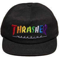 Textil kiegészítők Férfi Baseball sapkák Thrasher Cap rainbow mag snapback Fekete