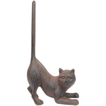 Otthon Szobrok, figurák Signes Grimalt Ajtók Hordozók Cat Gris