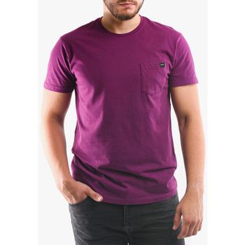 Ruhák Férfi Pólók / Galléros Pólók Edwin T-shirt avec poche violet