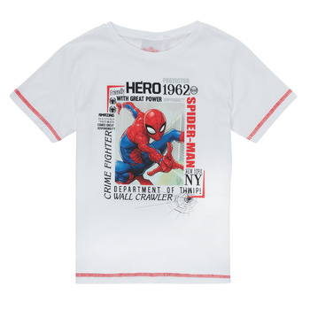 Ruhák Fiú Rövid ujjú pólók TEAM HEROES  SPIDERMAN TEE Fehér