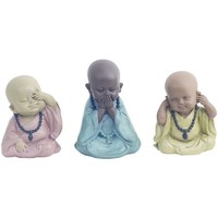Otthon Szobrok, figurák Signes Grimalt Buddha 3 Különböző Set 3U Multicolor