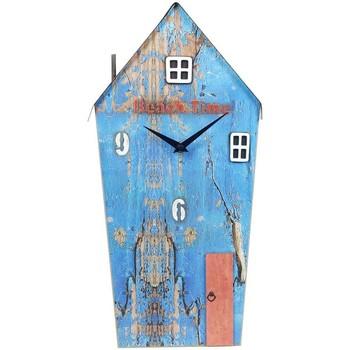 Otthon Órák Signes Grimalt Reclaimed Wood Clock House Azul