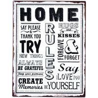 Otthon Képek, vásznak Signes Grimalt Home Plate Fal Multicolor