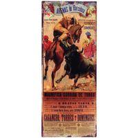 Otthon Képek, vásznak Signes Grimalt Négyszögletes Fali Lemez Toros Multicolor