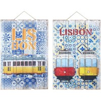 Otthon Képek, vásznak Signes Grimalt Fali Dísz Lisbon 2 Dif. Multicolor