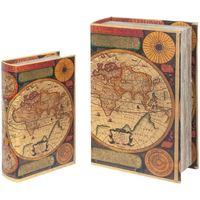 Otthon Rekeszek és tárolók Signes Grimalt Világkönyves Dobozok Set 2U Multicolor