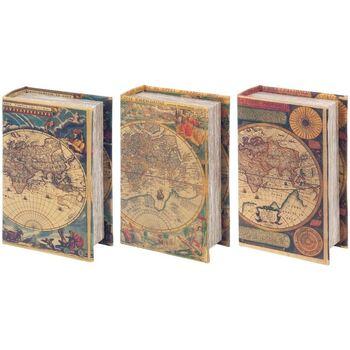 Otthon Rekeszek és tárolók Signes Grimalt Dobozok 3. Könyv Különböző Világ Multicolor
