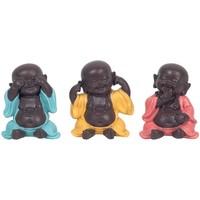 Otthon Szobrok, figurák Signes Grimalt Buddhák Nem Látja-Hallani-Beszélnek 3U Multicolor
